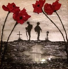 'Remember And Reflect' by Jacqueline Hurley The War Poppy Collection 100 Year Centenary painting