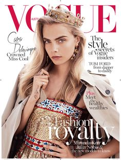 Cara Delevingne photographed by Benny Horne and styled by Christine Centenera for Vogue Australia October 2013.