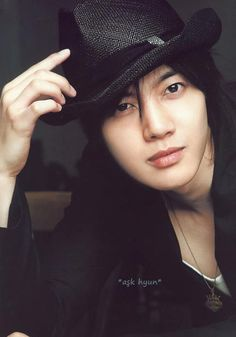 Kim Hyun Joong 김현중 ♡ long hair ♡ hat ♡ Kpop ♡ Kdrama ♡
