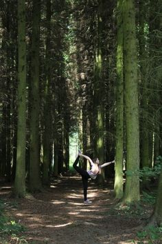 Yoga in the forest. #Yoga Pose #Nature yoga scenery - http://amzn.to/2iaVqk0