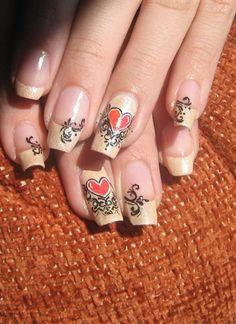 Heart and filigree by Tina35 - Nail Art Gallery nailartgallery.nailsmag.com by Nails Magazine www.nailsmag.com #nailart
