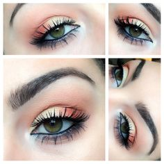 Fall colors Natural make Up in yellow and orange!