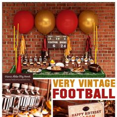 Ideas for a fun vintage football themed party