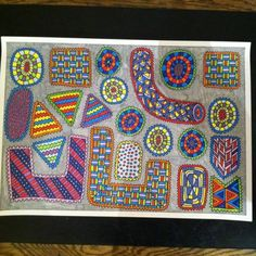 New #drawing by me #davidsaunderlondon #david_david_london #art #colour #daviddavidpopcolouring #cool #geometric #pattern #textiles #modernart #institutecontemporaryart (at London, United Kingdom)