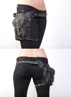hip bag - a must for man and woman! #steampunk #goth #fashion #costume by rosa