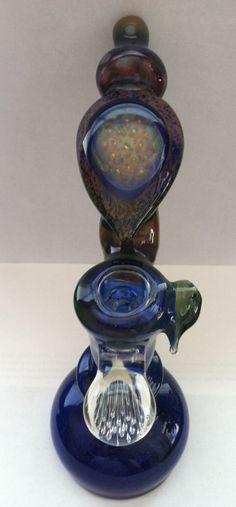 Glass Bubbler by Artist Brad Wilson #waterpipe #bubbler #glassart #art #pipeart #glasspipes #headyglass