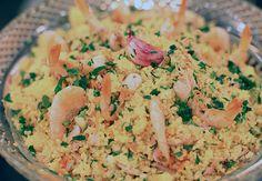 Cuscuz marroquino com camarões secos