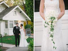 amazing draping bridal bouquet