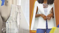 Hey DIY Fam, this video is a sample tutorial exhibiting the right way to make the patterns for a cape blazer. Watch stitching tutorial right here * Sample paper * Primary bodice block Kindly Coat Pattern Sewing, Cape Pattern, Blazer Pattern, Coat Patterns, Dress Sewing Patterns, Jacket Pattern, Clothing Patterns, Diy Cape, Derby Outfits