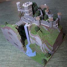 3D printed Minecraft. #3dPrintedArchitecture