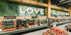 Whole Foods Market - BRR Architecture Fruit And Veg Shop, Fresh Store, Environmental Graphic Design, Environmental Graphics, Supermarket Design, Fresh Market, Signage Design, Whole Foods Market, Food Design
