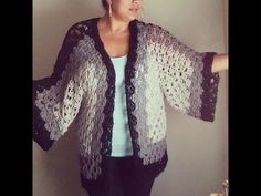 VERY EASY crochet cardigan / sweater / jumper tutorial - baby and child sizes 1 - YouTube