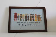 Doctor Who Day of the Doctor 50th Anniversary Cross Stitsch - PDF Pattern - INSTANT Download