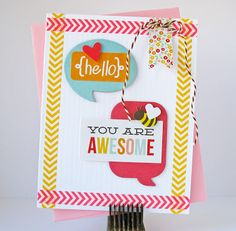 You Are Awesome by Kathy Martin for #Pebbles
