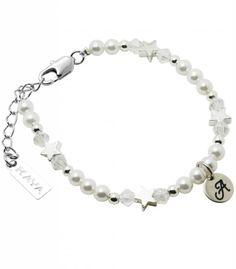 Childrens Silver Bracelet 'Shine Bright' Initial - KAYA jewellery UK