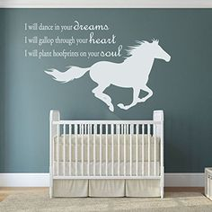 This inspirational wall decal describes the purity and elegance of the horse. It also reminds people that the horse is one of God's many beautiful creations. This gentle, loving, majestic, animal is a loyal friend.