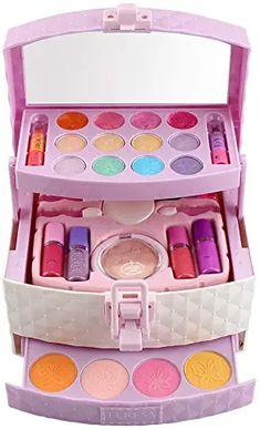 pretend kids makeup kit for girl Little Girl Makeup Kit, Makeup Kit For Kids, Little Girl Toys, Baby Girl Toys, Kids Makeup, Makeup Set, Toys For Girls, American Girl Doll Sets, Disney Princess Toys