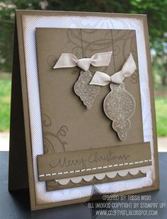 stampin up cupcake christmas card | Crafty Girl Designs: November 2009