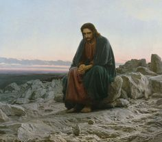 Christ in the Desert, Painting. Ivan Kramskoi.