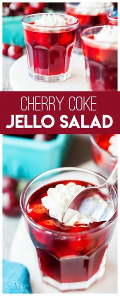 cookie salad Cherry Coke Jello Salad: you only need a few ingredients to make this delicious jello salad that is perfect for your picnics, holiday table and more. Jello Fruit Salads, Jello With Fruit, Dessert Salads, Fruit Salad Recipes, Fruit Salad Recipe With Jello, Jello Deserts, Köstliche Desserts, Delicious Desserts, Health Desserts