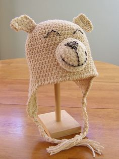 Ravelry: Puppy Dog or Kitty Cat Hat with or without Earflaps Happy Pets crochet pattern by Darleen Hopkins Click to buy: http://www.ravelry.com/patterns/library/puppy-dog-or-kitty-cat-hat-with-or-without-earflaps-happy-pets