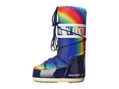Tecnica Moon Boot(r) Rainbow Cold Weather Boots Blue Apollo Moon Missions, Hot Tickets, Cold Weather Boots, Moon Boots, Designer Boots, Winter Sports, 50th Anniversary, Shoe Game, Knee Boots