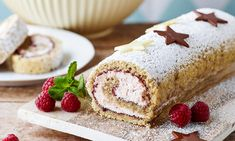 Danish Food, Food Cakes, Home Recipes, Let Them Eat Cake, Raspberry, Deserts, Goodies, Food And Drink, Rolls