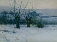 Charles Warren Eaton, Winter Orchard, 1891, Private Collection, NY