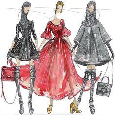 J.Larkowsky Illustration, Dolce And Gabbana Fall 2014