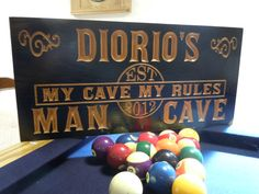Man Cave Sign Personalized Wooden Carved by TKWoodcrafts on Etsy, $44.95