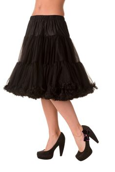 Trash Monkey ** BANNED - Starlite Petticoat in Black