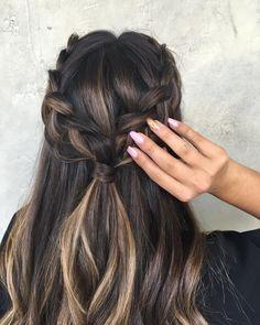 Hair Ideas, Braids, Hairstyles, Instagram Posts, Color, Fashion, Smooth Hair, Up Dos, Shirt Hair
