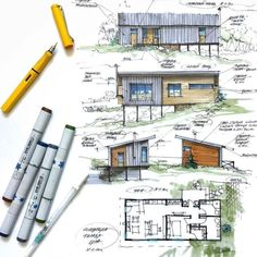 Interesting Find A Career In Architecture Ideas. Admirable Find A Career In Architecture Ideas. Interior Architecture Drawing, Architecture Drawing Sketchbooks, Architecture Concept Drawings, Watercolor Architecture, Architecture Board, Architecture Design, Sketches Arquitectura, Portfolio D'architecture, Architecture Presentation Board