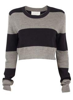 A.L.C. Brandie Stripe Crop Sweater