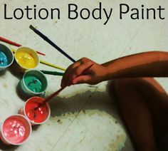 Tutus and Tea Parties: Baby Lotion Body Paint
