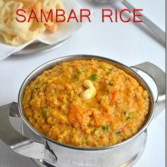 Sambar sadam recipe/ Sambar rice - An easy one pot meal made in pressure cooker packed with flavours. A great South Indian lunch recipe with step by step pictures. Veg Recipes, Lunch Recipes, Indian Food Recipes, Cooking Recipes, Kerala Recipes, Curry Recipes, Vegetarian Recipes, Recipies, Sambhar Recipe