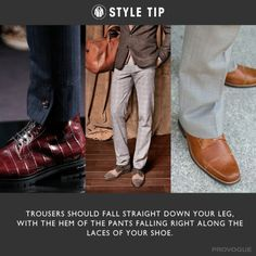 #styletip Women get to mix up their pants with skirts, dresses and the occasional skort . But for guys, it's almost all pants, all the time. So it would behoove men to get the details right, right?