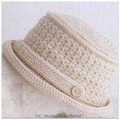 Crochet un très beau chapeau : je vous propose ce chapeau et mes réflexions pour le faire, vous trouverez toutes les explications