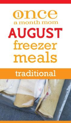 Freezer meals for the month!