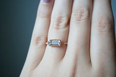 40th bday present birthstone Aquamarine Ring by S. Kind & Co.