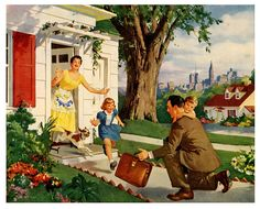 Idealized illustration from the 1950s