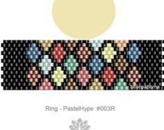 DETAILS: NobleRose #085R  Peyote ring pattern - The ring-length is adjustable. Size: 1,75 cm x 5,7 cm / 0.69 x 2.23 - odd count Beads: Miyuki Delica 11/0    >>>>>>>>>>>>> Coupons-codes: <<<<<<<<<<< 10% discount code: 10PERCENTOFF (Minimum Purchase: € 15,00) 15% discount code: 15PERCENTOFF (Minimum Purchase: € 20,00) 20% discount code: 20PERCENTOFF (Minimum Purchase: € 25,00) 25% discount code: 25PERCENTOFF (Mini...