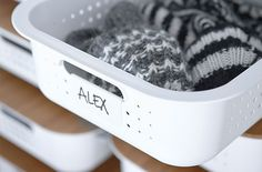 White SmartStore Baskets with bamboo lids, click for more inspiration!