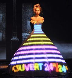 Light projected couture