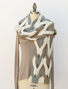 Japanese Weave Wrap Knitting pattern by Pam Powers Knitted Shawls, Crochet Scarves, Crochet Shawl, Knit Crochet, Knitting Scarves, Scarf Knit, Knitting Patterns, Woven Wrap, Knit Patterns