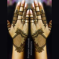 When the festival is about Goddess it calls for mehendi designs. We here have 15 Rajasthani full hand mehendi designs which will blow your mind. Khafif Mehndi Design, Full Hand Mehndi Designs, Mehndi Designs 2018, Modern Mehndi Designs, Mehndi Design Photos, Wedding Mehndi Designs, Beautiful Henna Designs, Henna Tattoo Designs, Mehndi Designs For Fingers