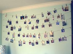 cool way to display a myriad of cards and photos