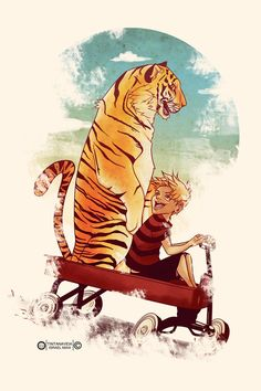 Calvin and Hobbes by ~tintanaveia on deviantART