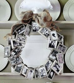 Cute Framed Wreath! but like do it around a mirror