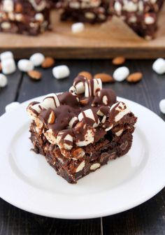 Rocky Road Brownies from @Mary | The Kitchen Paper
